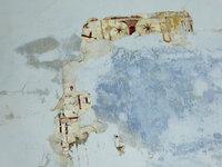 Detalle de pintura en la bóveda del presbiterio.